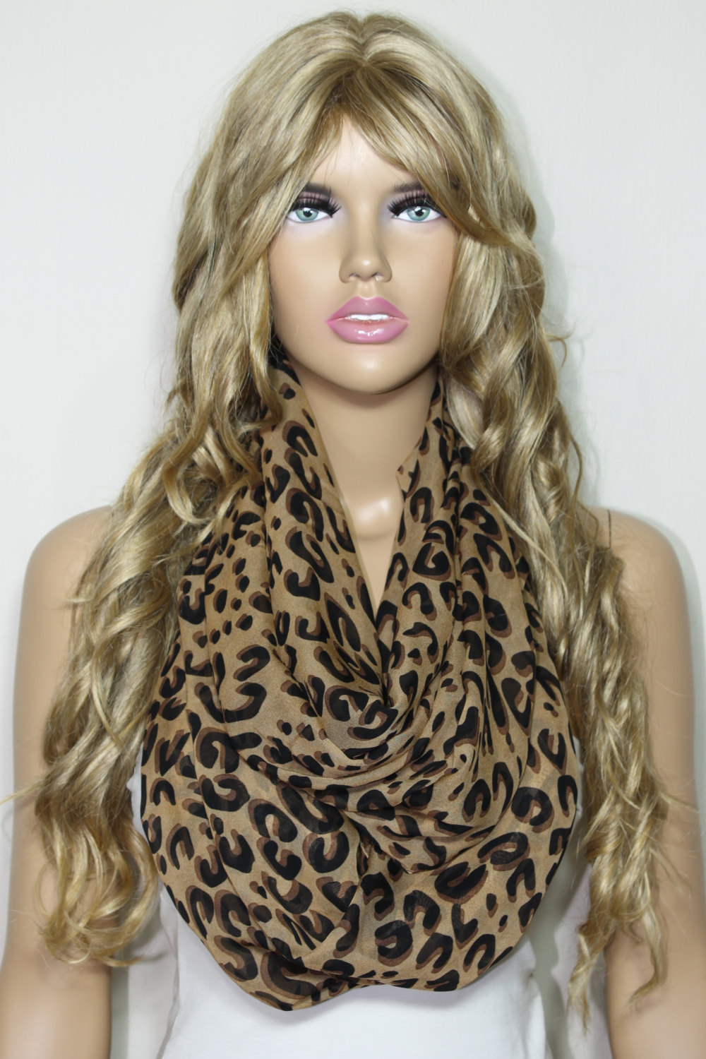 Infinity Scarf, Leopard Scarf, Chiffon So Soft Lightweight Infinity Scarf Loop Scarf Leopard Print Scarf Mother's Day Gift For Her-ESCHERPE