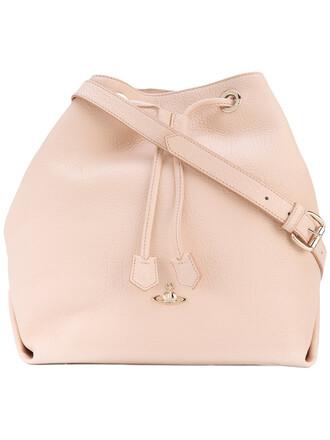 women drawstring bag leather purple pink