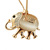 [grxjy5100315]Fashion Rhinestone Elephant Pendant Opal Necklace