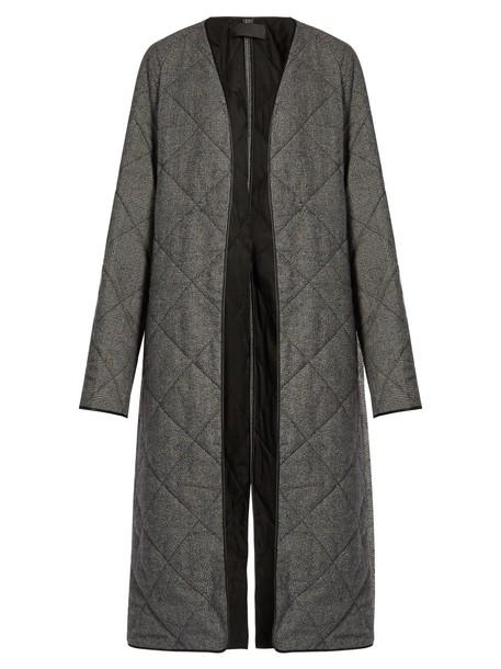 Haider Ackermann coat wool coat quilted wool grey