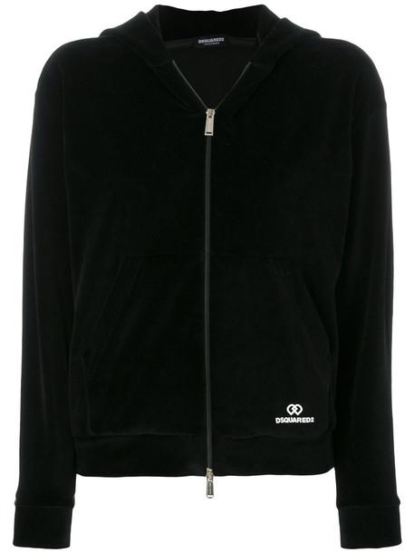 Dsquared2 Underwear jacket zip women spandex cotton black