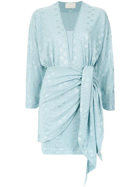 Lilly Sarti dress short women spandex blue