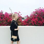 bag,nastygal,crossbody bag,chloe,suede,pony hair,gold,chain,purse