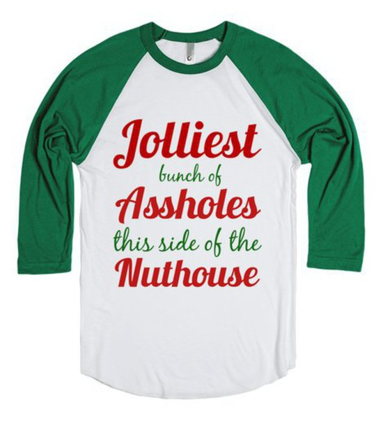 T-shirt: christmas, xmas, holidays, shirt, jolliest, family, funny ...