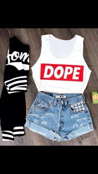 shorts t-shirt tank top jacket shoes dope