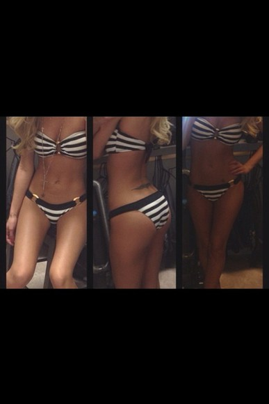 swimwear bikini white bikini white black black bikini black and white stripes black and white striped