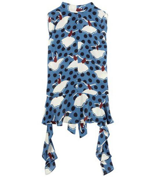 MARNI shirt silk blue top