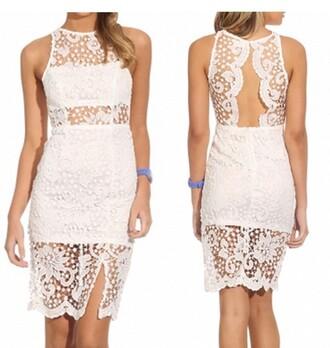 dress lace dress white dress white lace dress lace slit dress