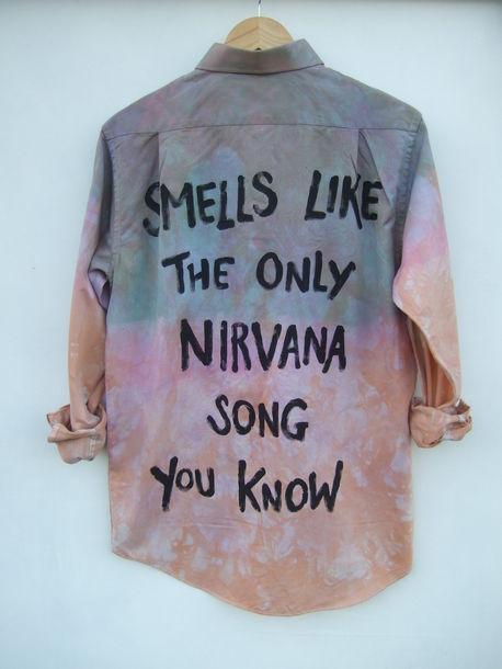 shirt nirvana tie dye grunge pastel