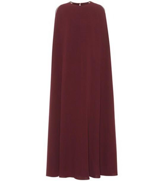 Valentino gown silk red dress