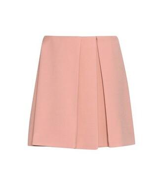 skirt wool pink