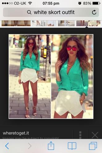 blouse green blouse shirt