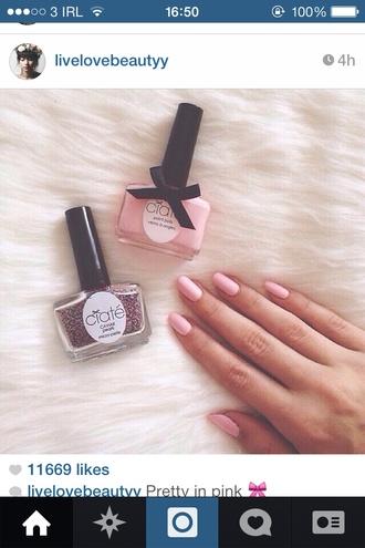nail polish pink nails glitter glitter nail polish cute vintage bond sweet lolita pink lolita caviar nail polish