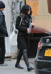 shoes,boots,jacket,vanessa hudgens