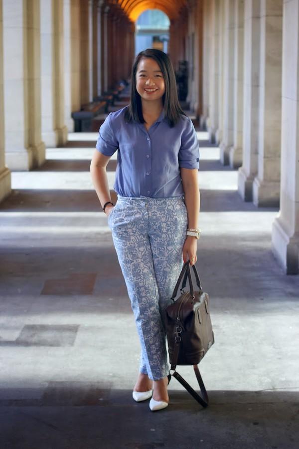 an odd girl shirt pants shoes bag jewels