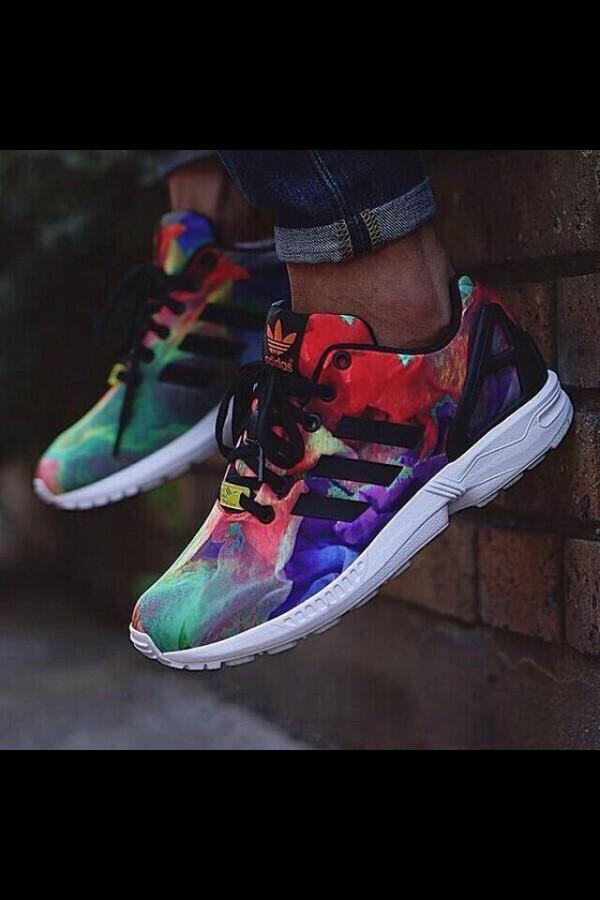 Tie Dye Adidas Shoes