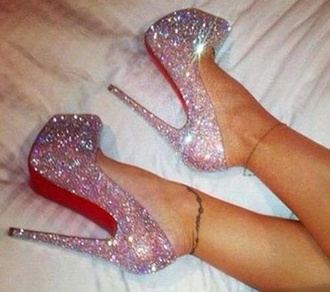 shoes sparkly high heels