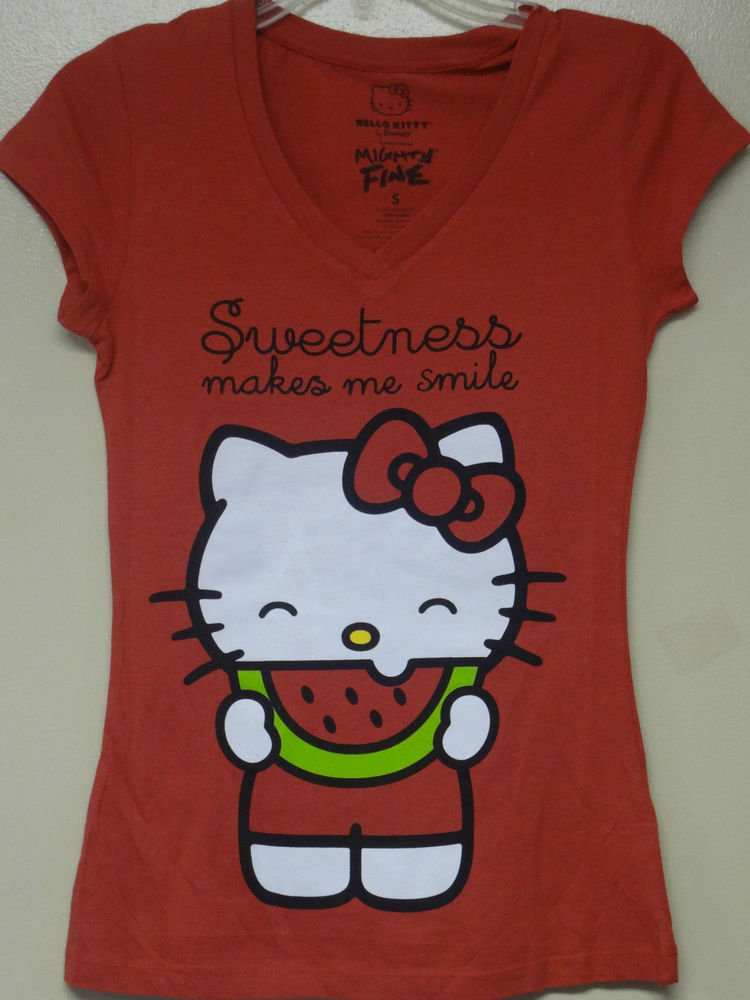 Hello Kitty Red Kitty Sweetness Makes Me Smile T Shirt | eBay