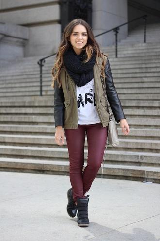 nany's klozet pants shoes bag scarf t-shirt jacket green military jacket