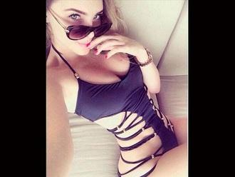 swimwear belinda black swim bathing suit pretty