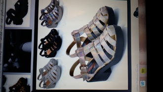 platform shoes chunky heels cut out shoes heeled sandal caged sandals rubber sole