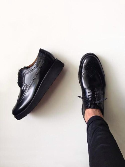 black tumblr shoes platform shoes grunge