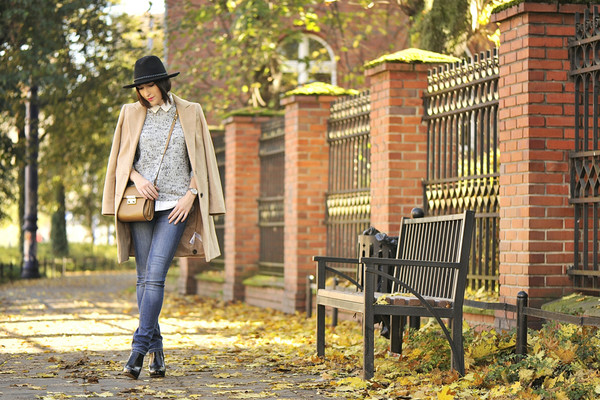 shiny sil blogger jeans blouse bag fall outfits