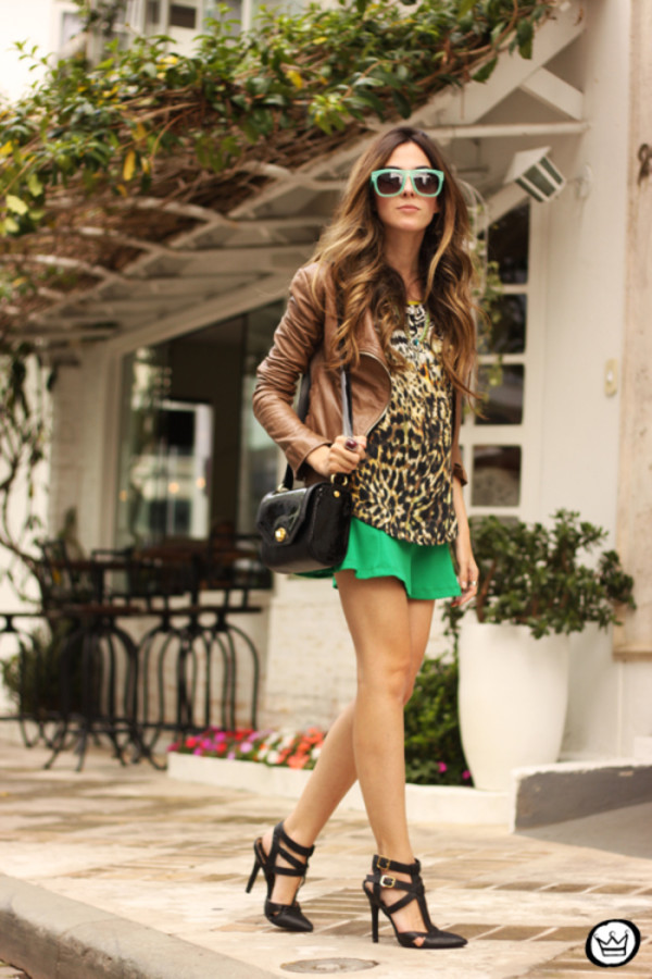 fashion coolture blogger top skirt jacket sunglasses bag shoes