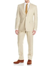 coat,mens gino valentino modern fit two button piece linen suit in tan,menswear,mens suit,mens coat