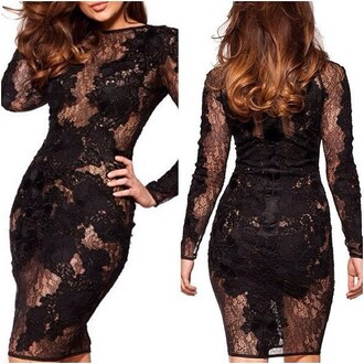 dress lost souls sexy black dresses black dress long sleeve dress short fitted dresses lace dress black lace dress sexy dress black sheer dress stunning dress birthday dress party dress