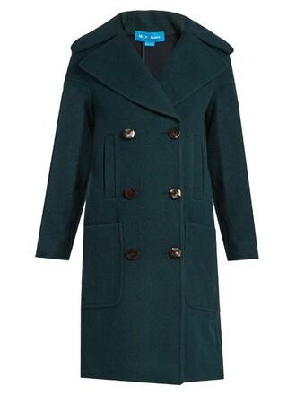 coat wool coat wool dark green
