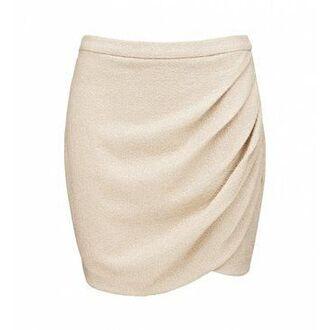 skirt midi skirt cream beige mid length wrap skirts