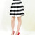 Stripe vintage pleated long skater skirt – Pinkracks