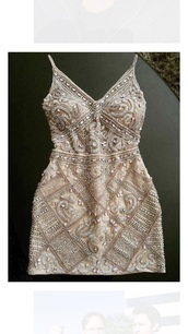 dress,gold,embroidered