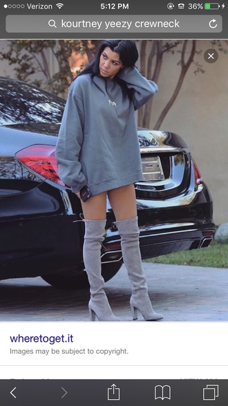 blouse kourtney kardashian crewneck yeezy
