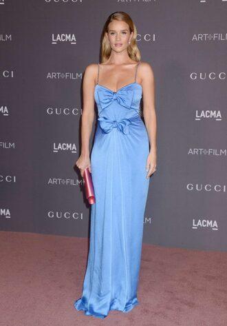 dress rosie huntington-whiteley maxi dress gown prom dress clutch blue blue dress