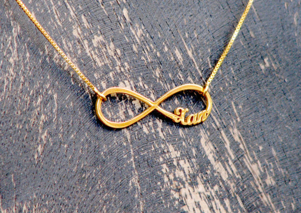 Personalized Gold Pendant Jewels infinity infinity necklace personalized jewelry like follow audiocablefo