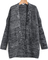 Black long sleeve pocket loose cardigan