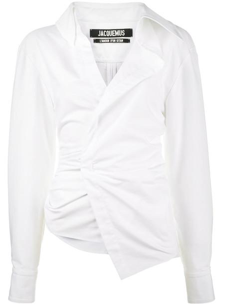 Jacquemus - La Chemise Elie shirt - women - Cotton - 40, White, Cotton
