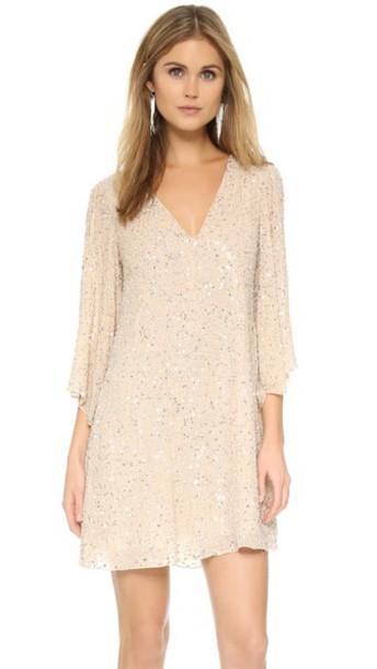 alice + olivia dress embellished dress embellished silver champagne