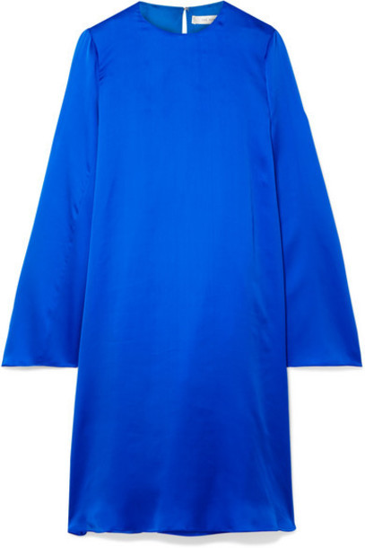 The Row - Bantoi Washed Silk-charmeuse Midi Dress - Bright blue