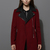 Faux Leather Collar Felt Wool Coat in Oxblood - Retro, Indie and Unique Fashion