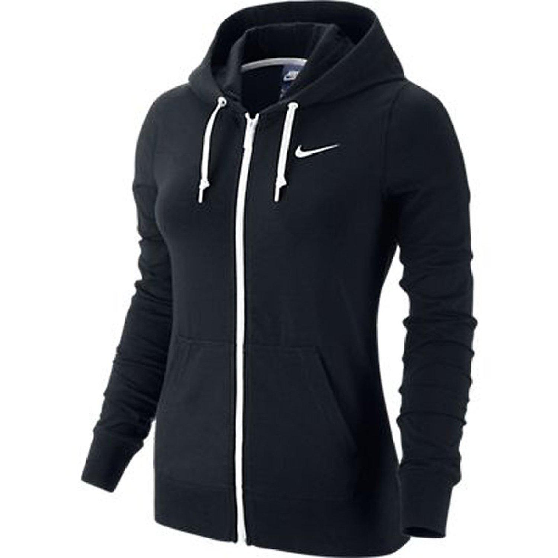 Zip hoodie black/white: sports & outdoors