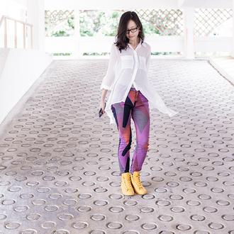 pupuren blogger jeans white shirt