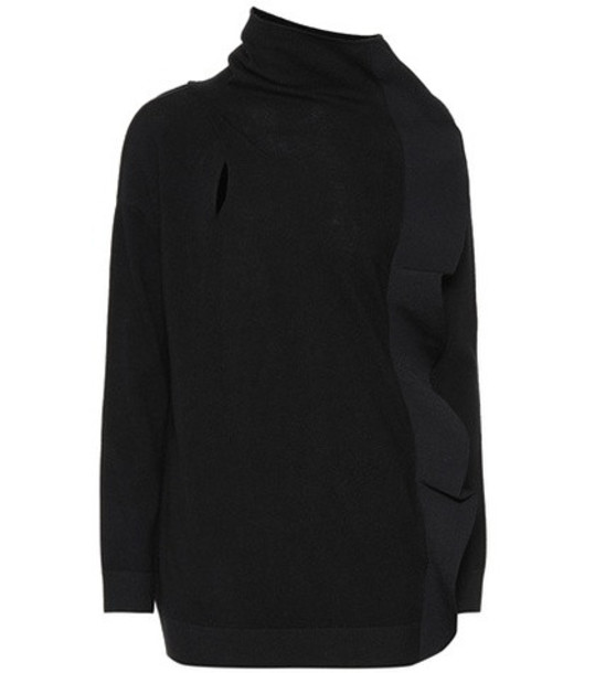 Valentino Cashmere and wool sweater in black