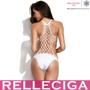 2014 RELLECIGA Brand Eiffel Tower Style One Piece Mesh Swimsuit White Women Bandage Swimwear Sexy Monokini Swimsuit-in Bikinis Set from Apparel & Accessories on Aliexpress.com