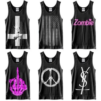 pink shirt t-shirt kill star clothing barbie up-side-down cross unicorn america american flag zombie blabk peace middle finger