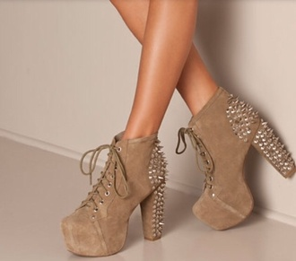 shoes jeffrey campbell litaboots platform lace up boots studded shoes