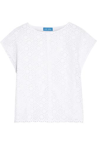 top back open cotton white