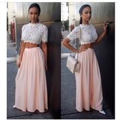 jeans,pants,pink,top,fashion,style,draya michele,sodraya,lace,lace top,maxi skirt,harem pants,white heels,ponytail,chanel,chanel bag,basketball wives,italian,african american,cute,skirt,blouse,shirt,lace crop top,nice,dress,dyara  michele,maxi dress,formal event outfit,white crop tops,crop tops,high waisted skirt,outfit,spring outfits,spring,high waisted denim shorts,shoes,purse,bag,handbag,see through,white,white dress